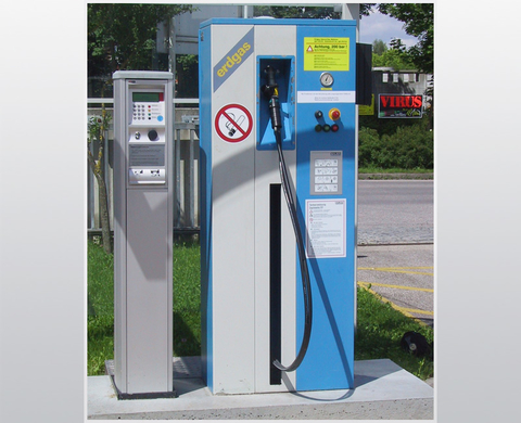 FP 1-M/TA dispenser for depot refuelling, can be calibrated, integrated facility for automated fuel vending, BAUER KOMPRESSOREN GmbH, Munich